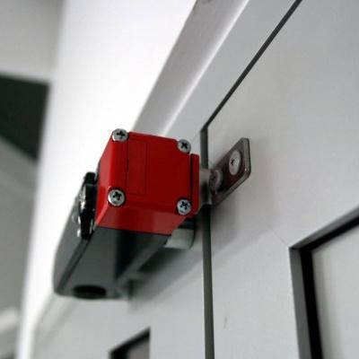 Drzwi przystankowe w windzie AP10 wyposażone są w elektrorygle