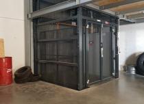 Platforma w konstrukcji osłonowej szybu samonośnego